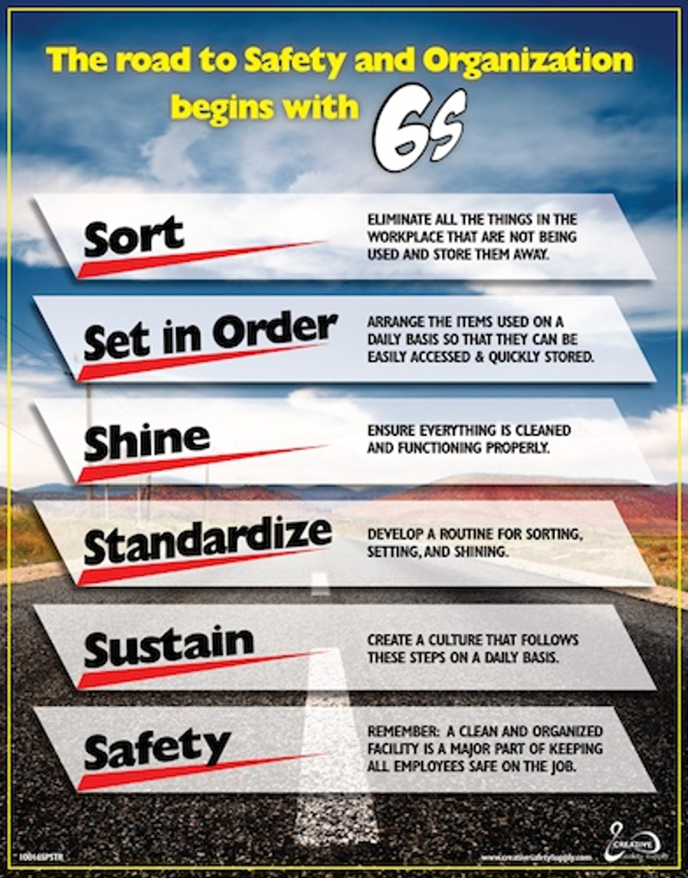 photo regarding Free Printable Safety Posters referred to as Highway toward Protection/6S Poster