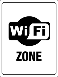 Free Wi-Fi Zone Sign