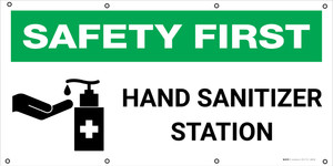 Safety First: Hand Sanitizer Station with Icon - Banner