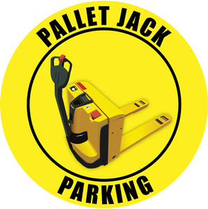 Electric Pallet Jack Parking Sign