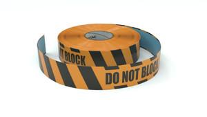 Hazard: Do Not Block - Inline Printed Floor Marking Tape