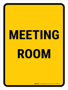 Meeting Room Portrait - Wall Sign