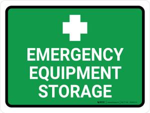 Emergency Equipment Storage Landscape - Wall Sign