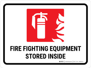 Fire Fighting Equipment Stored Inside Landscape - Wall Sign