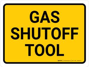 Gas Shutoff Tool Landscape - Wall Sign
