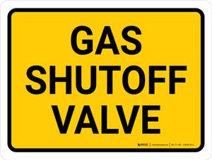 Gas Shutoff Valve Landscape - Wall Sign