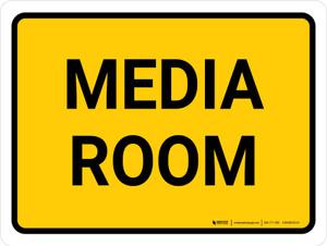 Media Room Landscape - Wall Sign