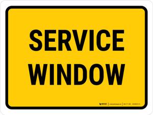 Service Window Landscape - Wall Sign
