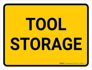 Tool Storage Landscape - Wall Sign