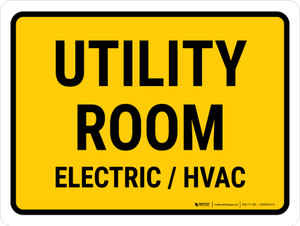 Utility Room Electric Hvac Landscape - Wall Sign