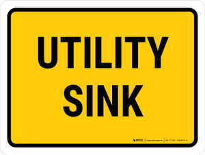 Utility Sink Landscape - Wall Sign