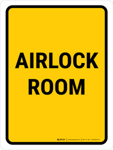 Airlock Room Portrait - Wall Sign