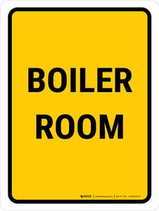 Boiler Room Portrait - Wall Sign