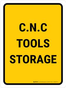 C.N.C Tools Storage Portrait - Wall Sign