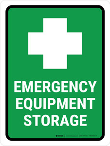 Emergency Equipment Storage Portrait - Wall Sign