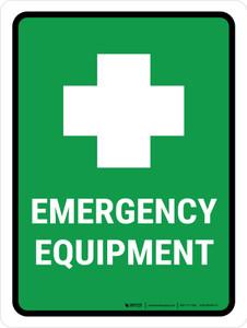 Emergency Equipment Portrait - Wall Sign