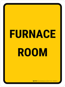 Furnace Room Portrait - Wall Sign