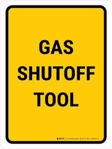 Gas Shutoff Tool Portrait - Wall Sign