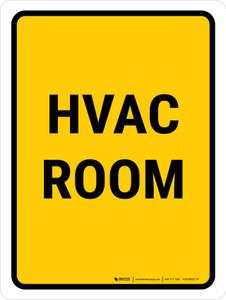 Hvac Room Portrait - Wall Sign