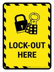 Lock Out Here Portrait - Wall Sign