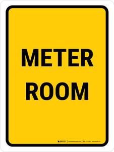Meter Room Portrait - Wall Sign