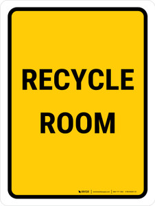 Recycle Room Portrait - Wall Sign