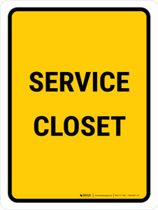 Service Closet Portrait - Wall Sign