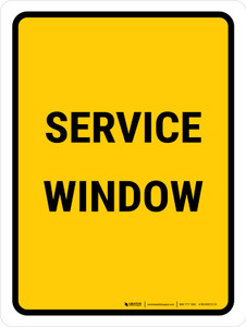 Service Window Portrait - Wall Sign