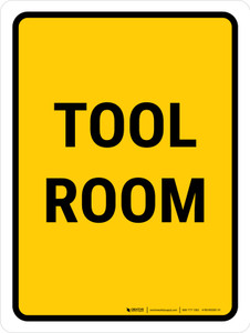 Tool Room Portrait - Wall Sign