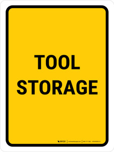 Tool Storage Portrait - Wall Sign