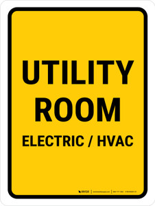Utility Room Electric  Hvac Portrait - Wall Sign