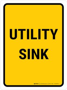 Utility Sink Portrait - Wall Sign