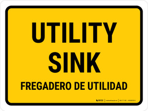 Utility Sink Bilingual Landscape - Wall Sign