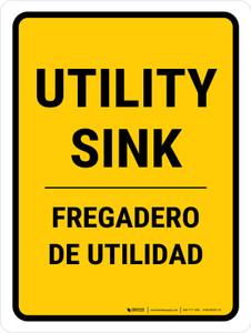 Utility Sink Bilingual Portrait - Wall Sign