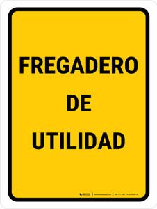 Utility Sink Spanish Portrait - Wall Sign
