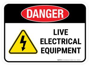 Danger: Live Electrical Equipment Rectangular - Floor Sign