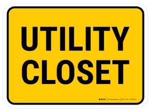 Utility Closet Rectangular - Floor Sign