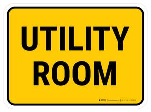 Utility Room Rectangular - Floor Sign