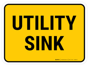 Utility Sink Rectangular - Floor Sign