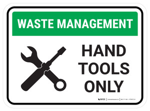 Waste Management Hand Tools Waste Recycling Rectangular - Floor Sign