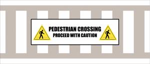 Pedestrian Crossing Crosswalk Floor Sign