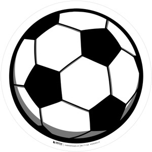 Soccer Ball - Floor Sign