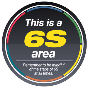 6S Area Sign (Black)