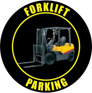 Forklift Parking Sign (Black)
