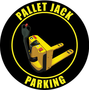 Pallet Jack Parking Elec.- Sign (Black)
