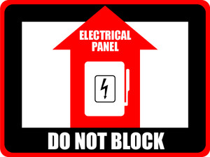 Elec. Panel - Do Not Block Rect. Sign