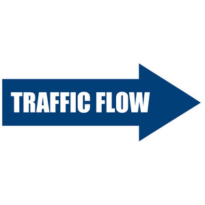 Traffic Flow Arrow Sign
