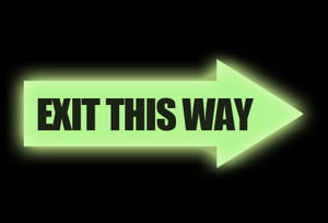 Glow: Exit Arrow Sign