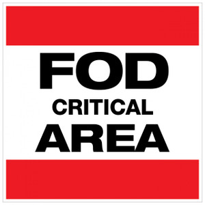 FOD Critical Area Type A (Wall Sign)