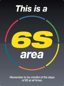 Large 6s Area sign